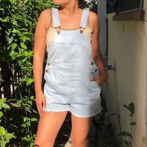 American Apparel overall shorts